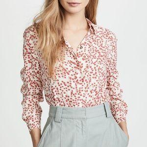 Ganni   Floral Button up crepe shirt